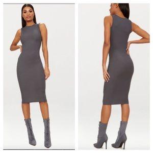 Pretty Little Things ribbed midi dress NWT size 2